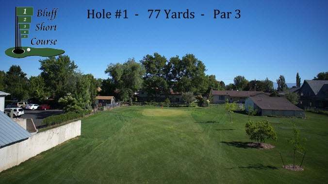 2013 Bluff Short Course Hole #1 w logo