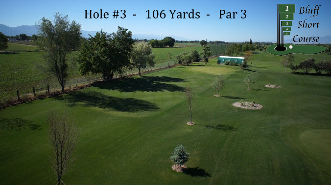 2013 Bluff Short Course Hole #3 w logo