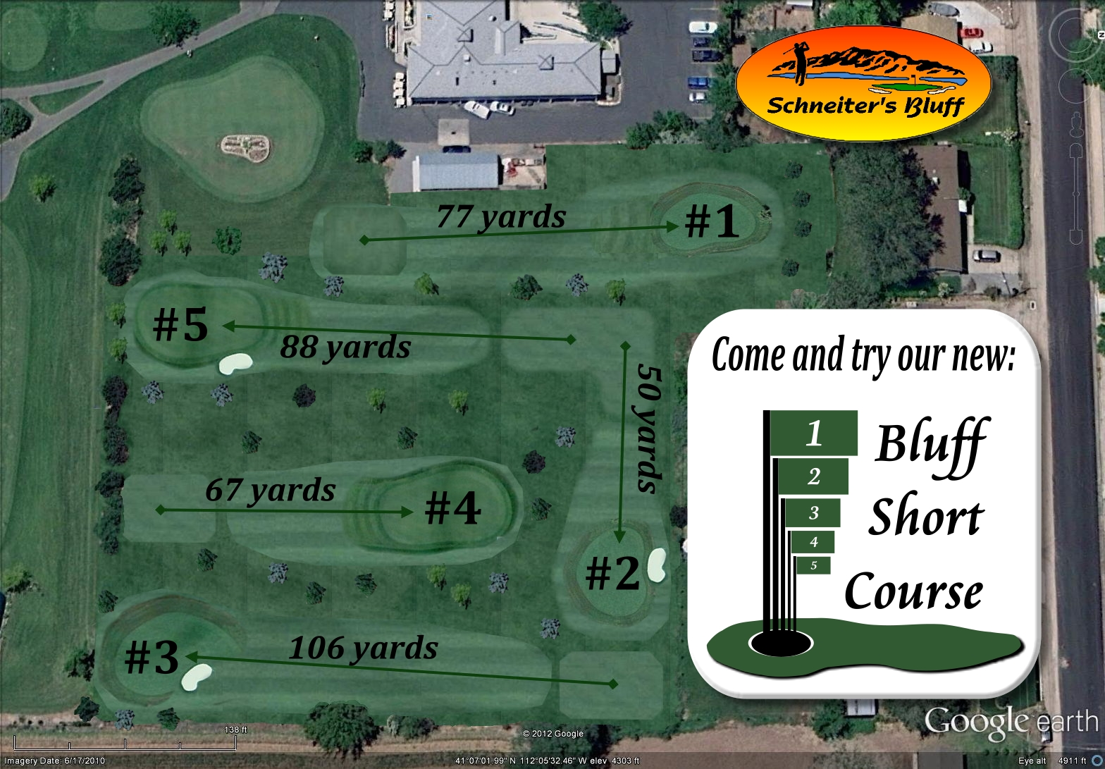 Small Course Arial Download with greens & tees & Trees