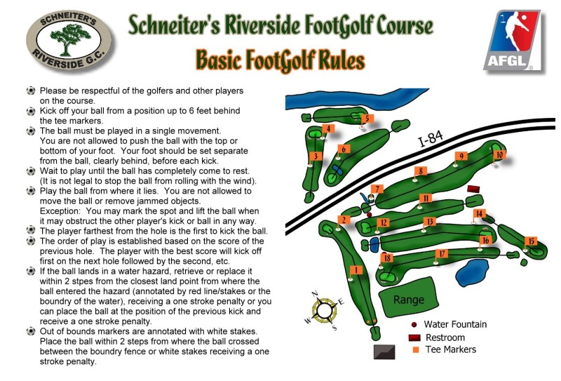 Picture & Rules Side of Footgolf Scorecard