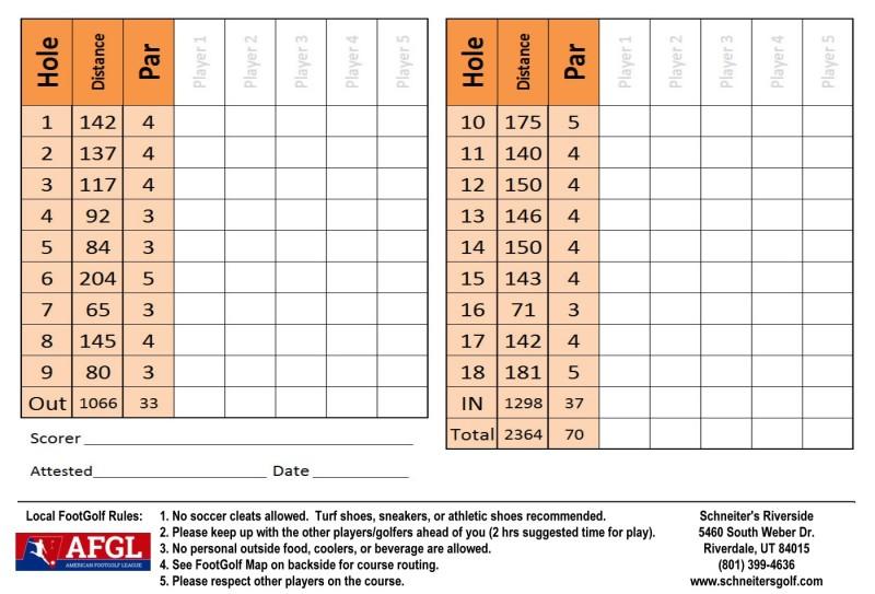 Riverside Soccer Scoreside of card